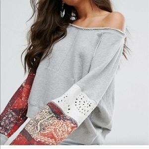 NWT Free People Suns Out Pullover Size Medium